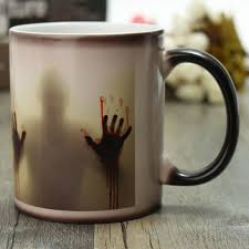 heat reactive changing color magic mug ceramic coffee tea