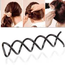 spiral hair pins 10pcs black spiral spin pin hair style design curly