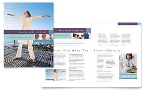 medical insurance company brochure template design