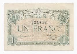 chambre de commerce de beauvais 60 beauvais 1 franc 1920 chambre de commerce oise tres