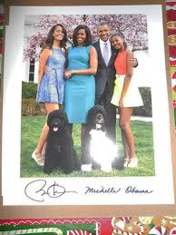 Obama First Family by Gets Holiday Card From President Obama Michelle Obama Ny