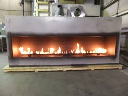 luxury outdoor gas fireplace insert kits with big wall design have