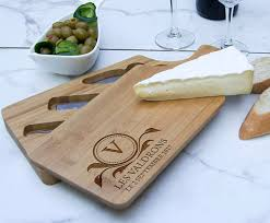 personalized cheese cutting board personalized cheese board set custom cheese board set