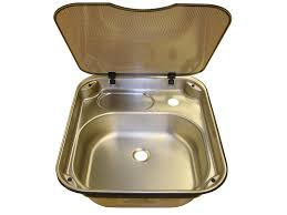 caravan sink with lid spinflo rectangle stainless steel kitchen sink with glass lid