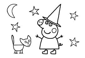peppa pig halloween colouring preschoolers nick jr
