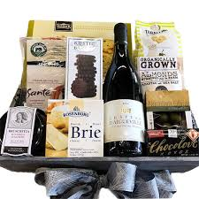 cheese and wine gift baskets warm wishes wine gift basket