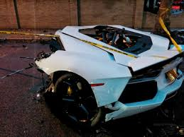 crashed lamborghini for sale lamborghini aventador splits in two after crashing with a sedan in