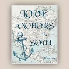 Love Anchors The Soul Nautical - nautical anchor print love anchors the soul beach house decor