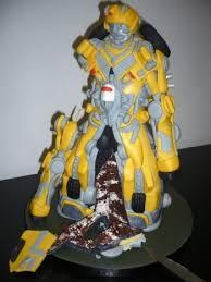 bumblebee transformers cake geeky cake