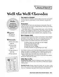 walk the walk charades an adverb game parents scholastic com