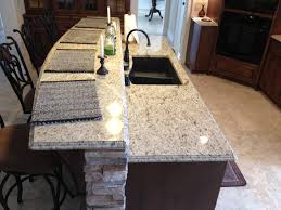 giallo ornamental light granite ogee edge detail
