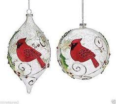 world northern cardinal glass ornament northern