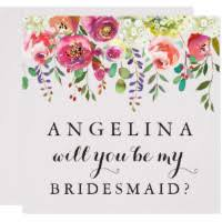 bridesmaid invitations bridesmaid invitations announcements zazzle