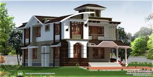 sq ft to sq m 254 square meter 4 bedroom house with tower kerala home design