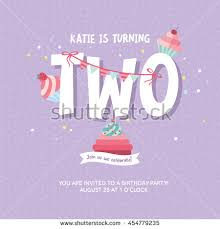 template for making birthday invitations greeting card design birthday cakes happy stock vector 454779235