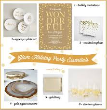 holiday cocktail party essentials in gold 6 easy ideas