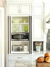 microwave storage solutions hidden microwave cabinet kitchen
