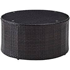 amazon com spring haven brown all weather wicker 30 in round