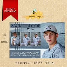 yearbook ad template 1 2 page high seniors middle