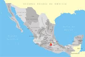 map of mexico yucatan region regional cuisine of mexico map mappery