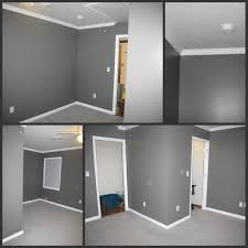 best special grey wall color with oak trim 7041