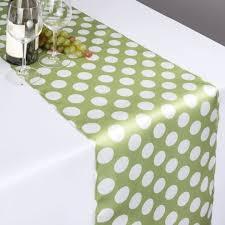 emerald green table runners x 108 in polka dot satin table runner emerald green white