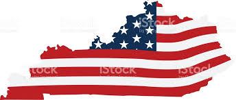 kentucky flag map kentucky patriotic map vector graphic design illustration stock