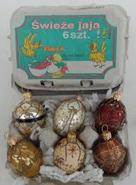 set of 6 mini smith hawken garden eggs ornament s made in poland