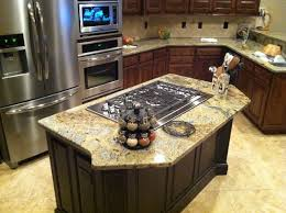kitchen island with cooktop and seating alder wood lasalle door kitchen island with cooktop