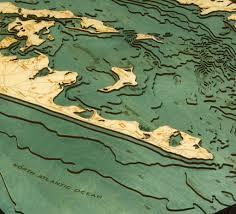 Hamptons Map Long Island Sound The Hamptons 3 D Nautical Wood Chart Large
