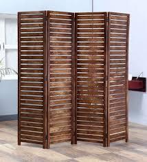 wooden room dividers buy safor solid wood 4 panel free standing room divider in teak