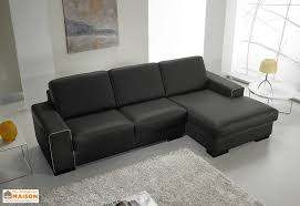 canape d angle en cuir canapé d angle en cuir reconstitué noir 2p 232x155x87cm l