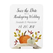 pumpkin thanksgiving wedding save the date magnet