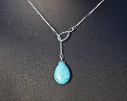 white gold turquoise necklace images Infinity and turquoise necklace in white gold infinity necklace jpg