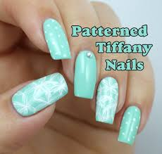 patterned tiffany blue nail art design lucy u0027s stash youtube