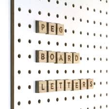 block wooden pegboard letters use to customise and personalise