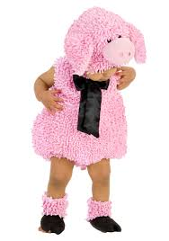 Fluffy Halloween Costumes Squiggly Pig Costume