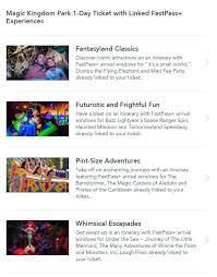 themes in magic kingdom 1 day 1 park pre linked fastpass disney world tickets worth it