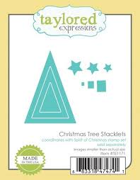 expressions cutting die christmas tree stacklets