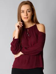 cold shoulder tops cold shoulder tops buy cold shoulder tops online myntra