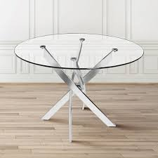 glass metal dining table kart round contemporary glass metal dining table free shipping