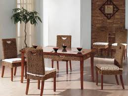 wicker dining chairs indoor rattan dining chair with cushion with