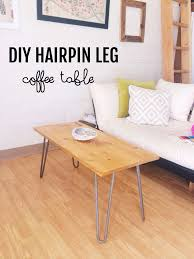 Hairpin Legs Coffee Table Diy Hairpin Leg Coffee Table Diy Pinterest Hairpin Leg