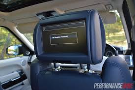 blue range rover vogue 2013 range rover vogue se rear screens