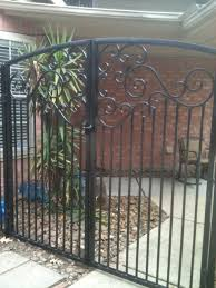 custom breezeway ornamental iron gates