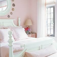 Pink And Green Bedroom - beach style poolside preppy interiors coastal living