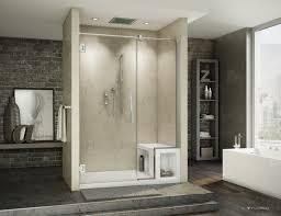 Redwood Shower Bench Curved Glass Shower Doors Best Shower