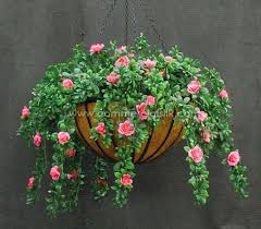 hanging flowers outdoor artificial flowers hanging baskets artificial flowers decor
