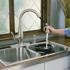kohler brushed nickel kitchen faucet faucet com k 692 bn in brushed nickel by kohler