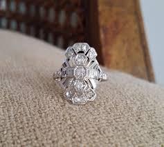 white gold filigree diamond rings wedding promise diamond